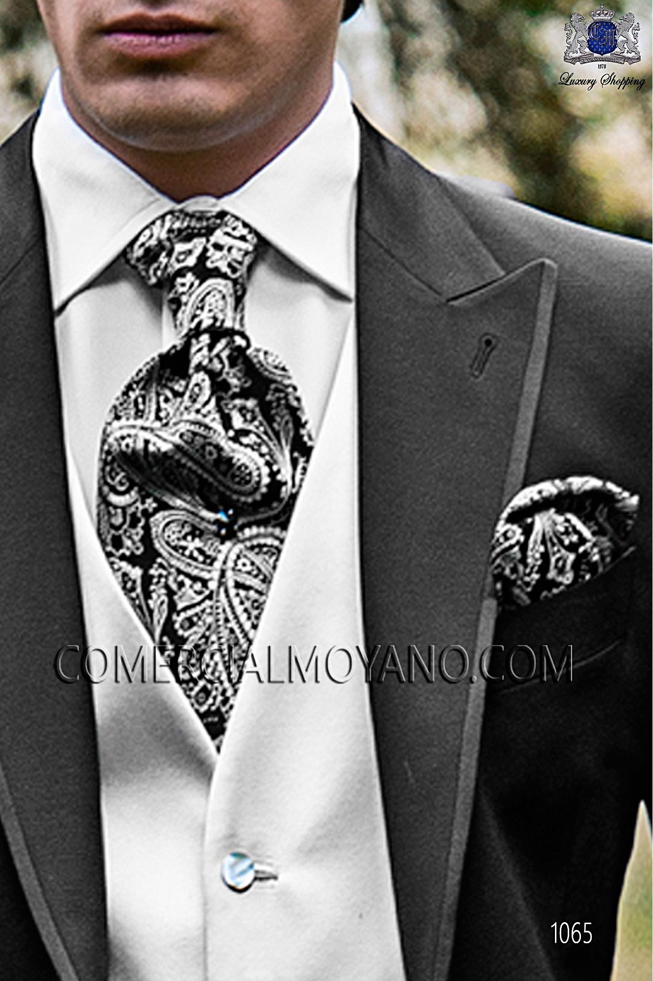Italian fashion black men wedding suit, model: 1065 Ottavio Nuccio Gala Fashion Collection