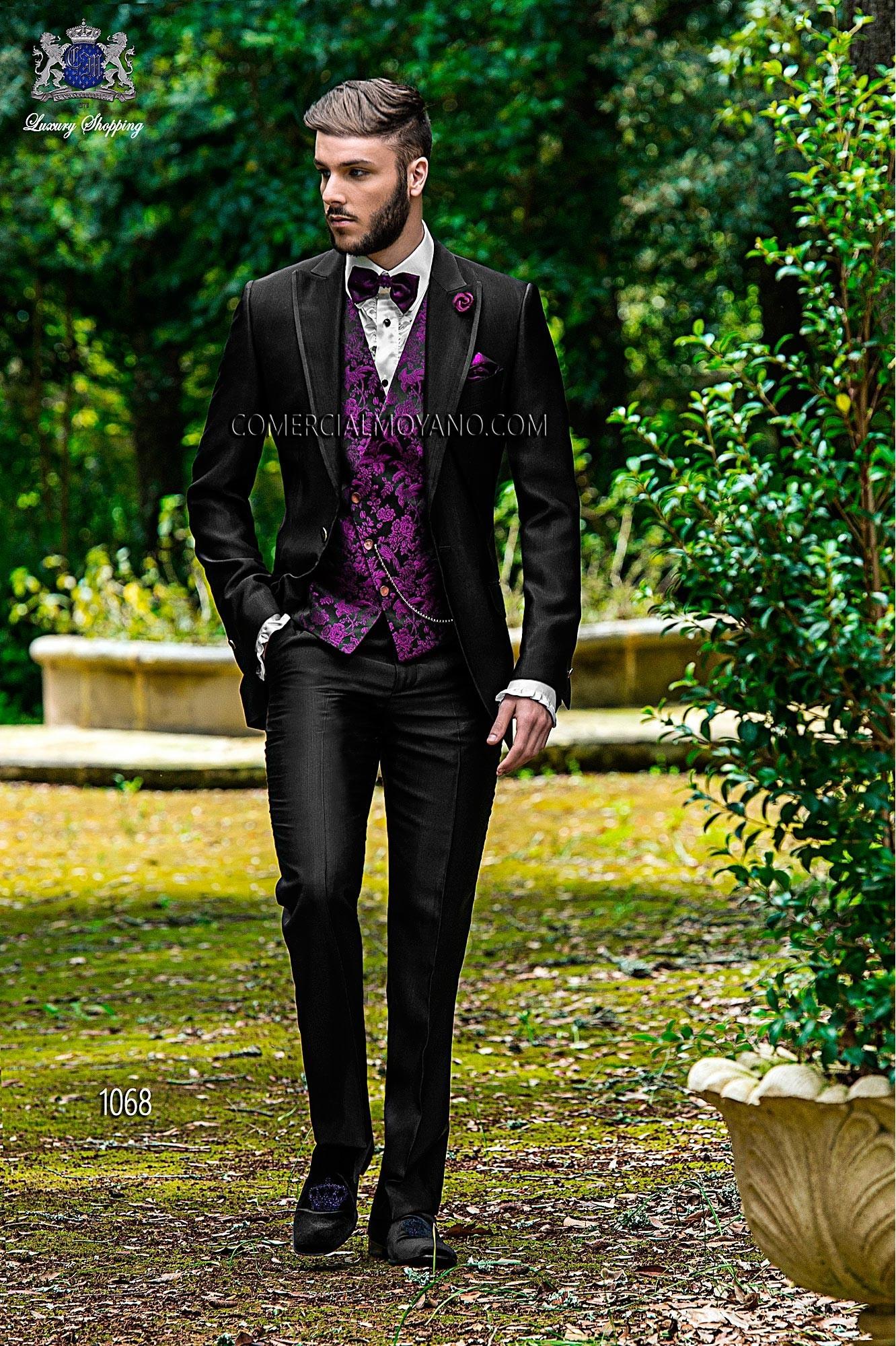 Fashion black men wedding suit model 1068 Ottavio Nuccio Gala