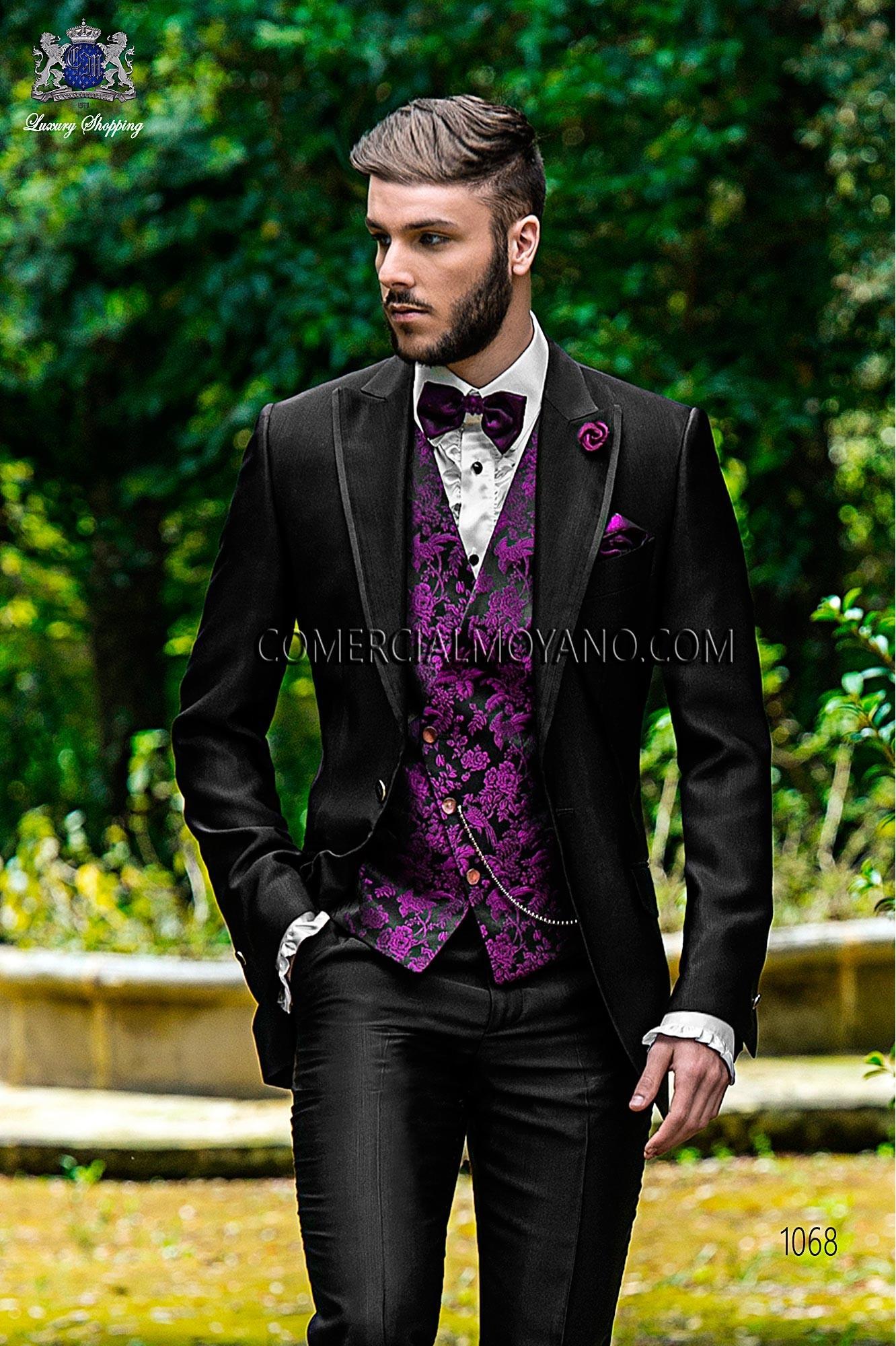 Traje Fashion de novio negro modelo: 1068 Ottavio Nuccio Gala colección Fashion