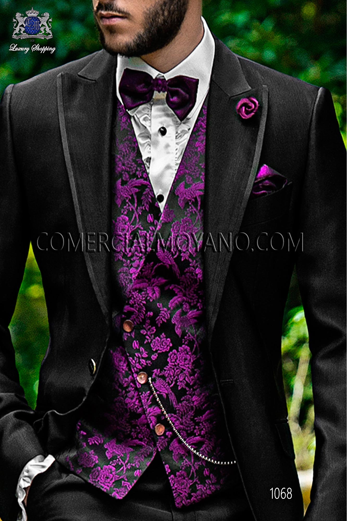 Fashion black men wedding suit, model: 1068 Ottavio Nuccio Gala ...