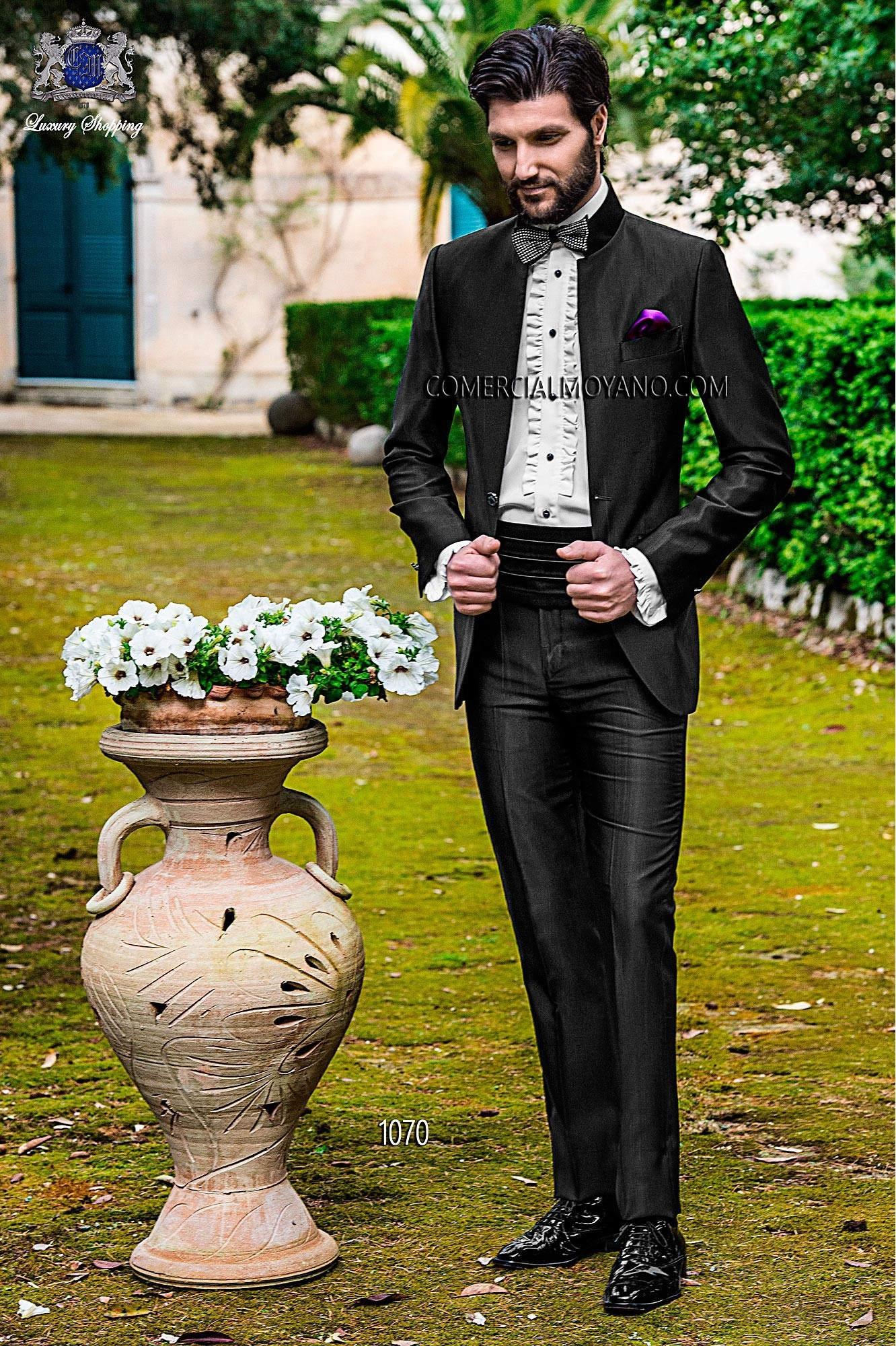 Fashion black men wedding suit model 1070 Ottavio Nuccio Gala