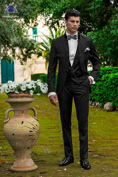 Italian fashion black men wedding suit style 1072 Ottavio Nuccio Gala