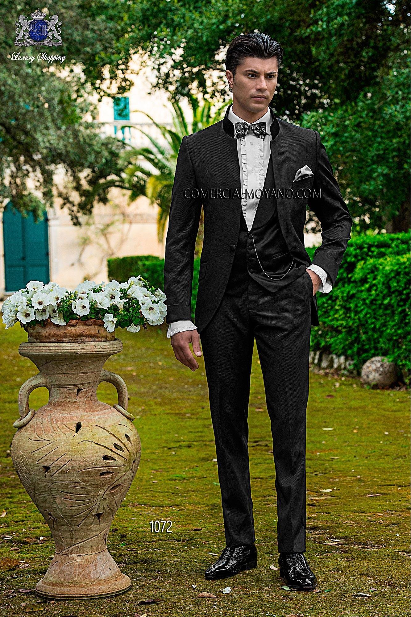 Fashion black men wedding suit model 1072 Ottavio Nuccio Gala