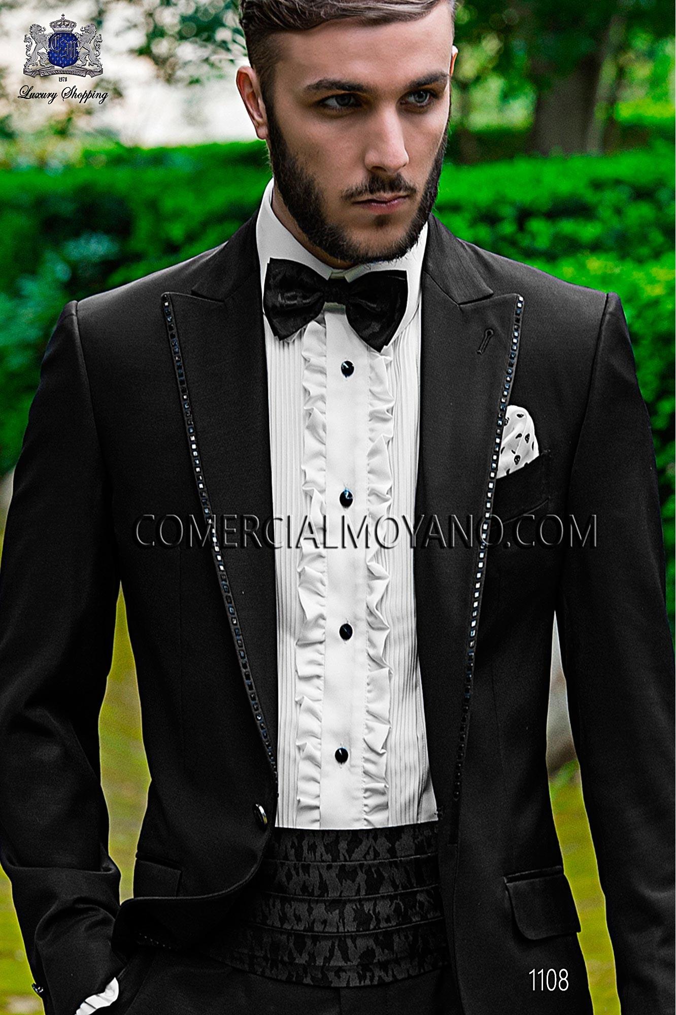 Traje Fashion de novio negro modelo: 1108 Ottavio Nuccio Gala colección Fashion