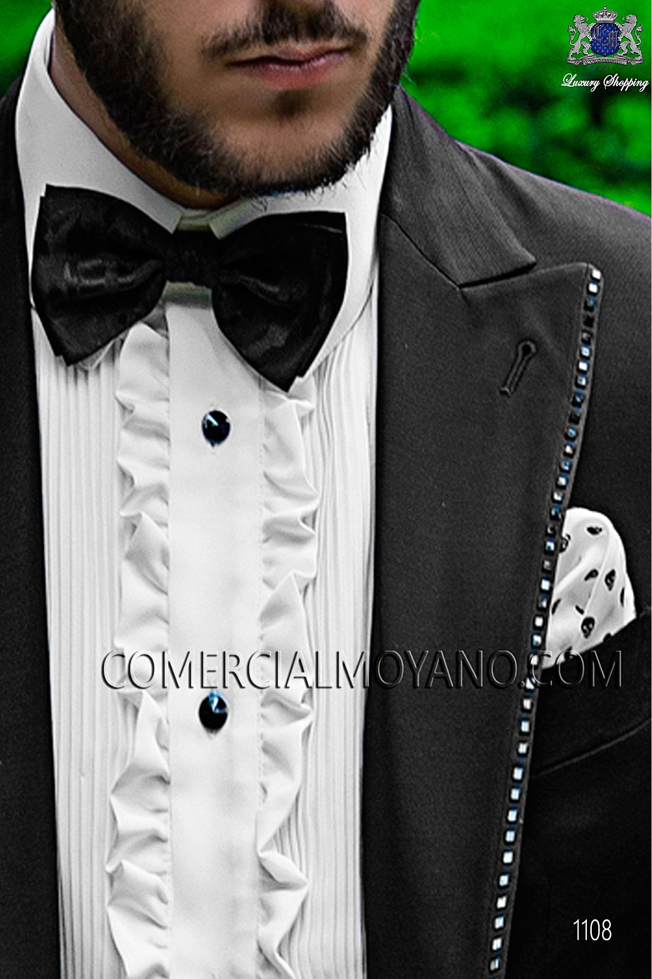 Italian fashion black men wedding suit, model: 1108 Ottavio Nuccio Gala Fashion Collection