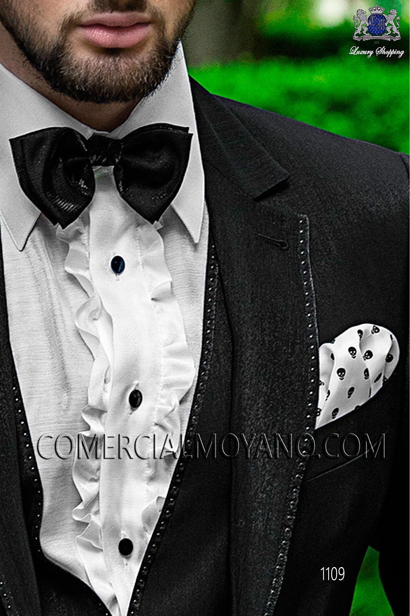 Italian fashion black men wedding suit, model: 1109 Ottavio Nuccio Gala Fashion Collection
