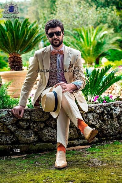 Italian hipster beige men wedding suit style 1000 Ottavio Nuccio Gala