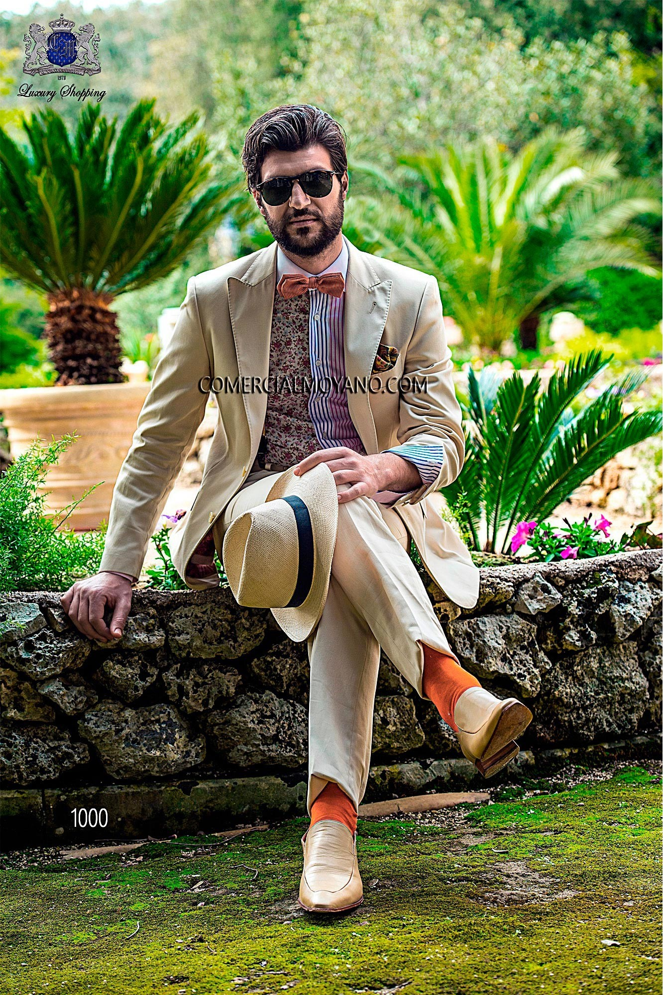 Hipster beige men wedding suit model 1000 Ottavio Nuccio Gala