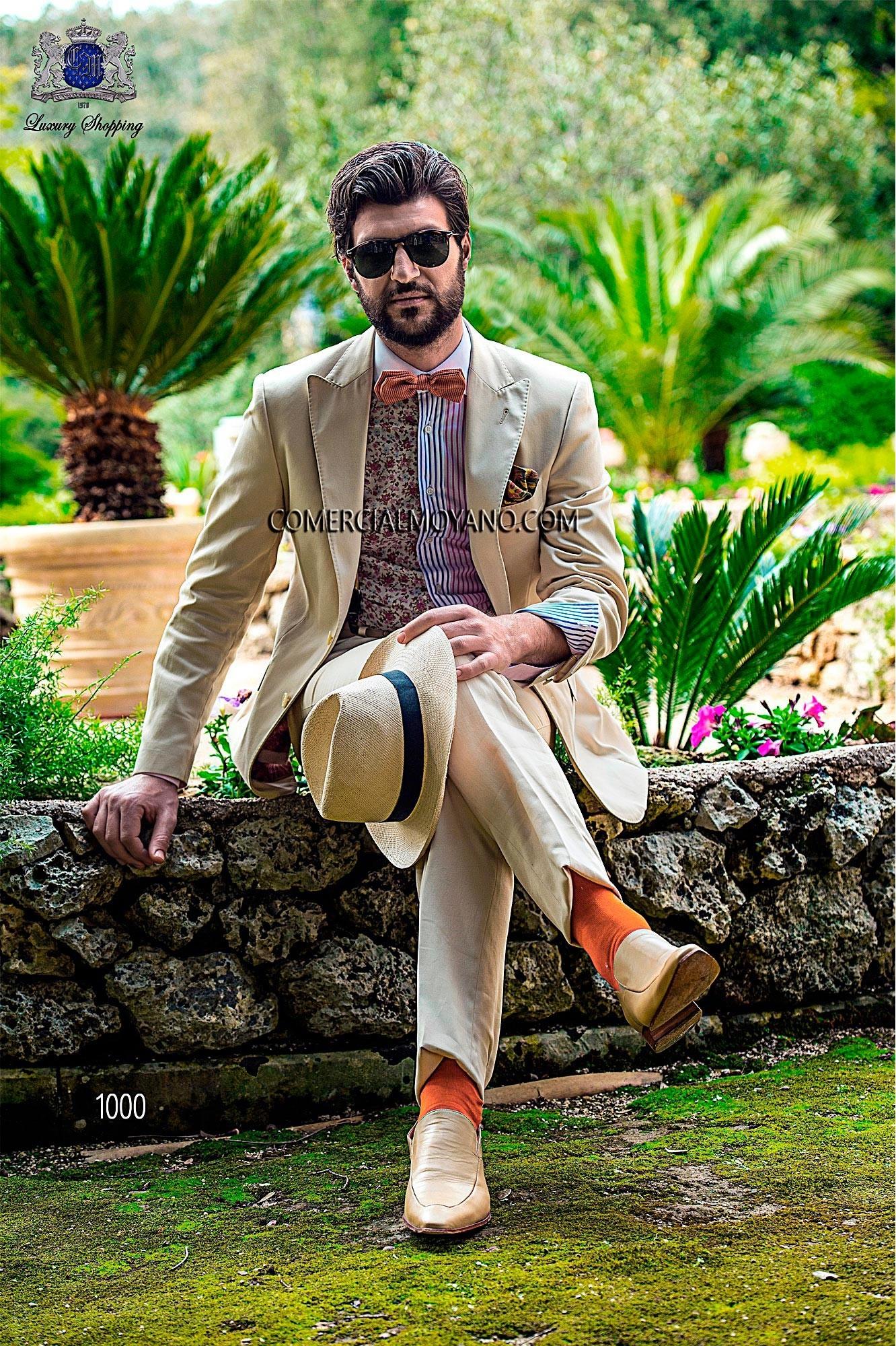 Traje de novio Hipster beige modelo: 1000 Ottavio Nuccio Gala colección Hipster