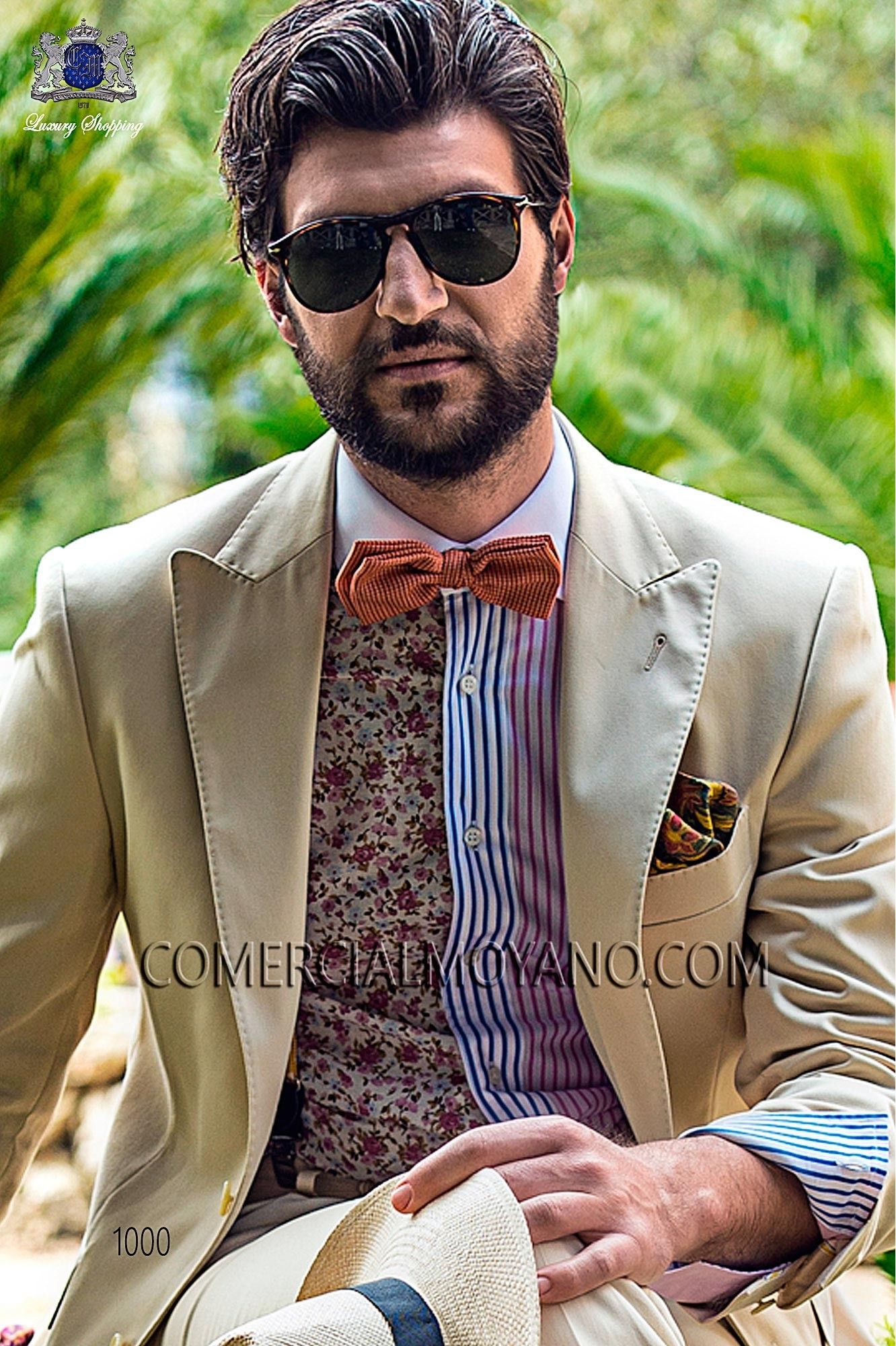 Traje Hipster de novio beige modelo: 1000 Ottavio Nuccio Gala colección Hipster