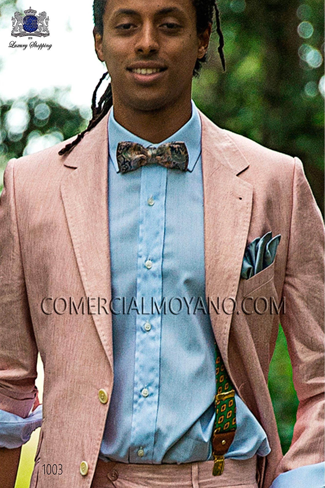 Italian hipster pink men wedding suit, model: 1003 Ottavio Nuccio Gala Hipster Collection