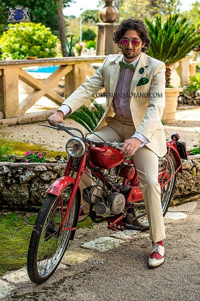 Traje de novio italiano marfil modelo 1004 Ottavio Nuccio Gala colección Hipster 2017