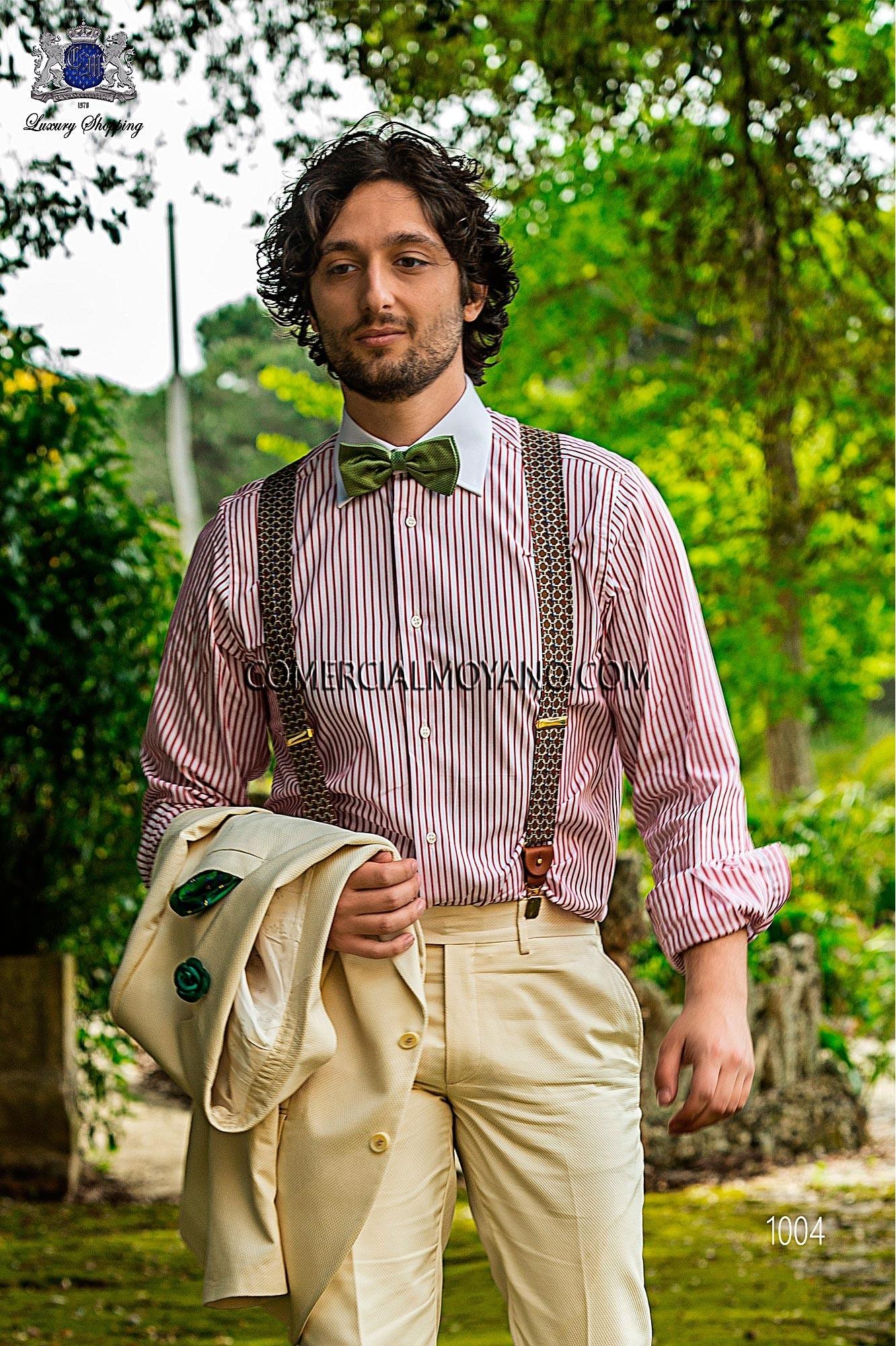 Traje Hipster de novio marfíl modelo: 1004 Ottavio Nuccio Gala colección Hipster