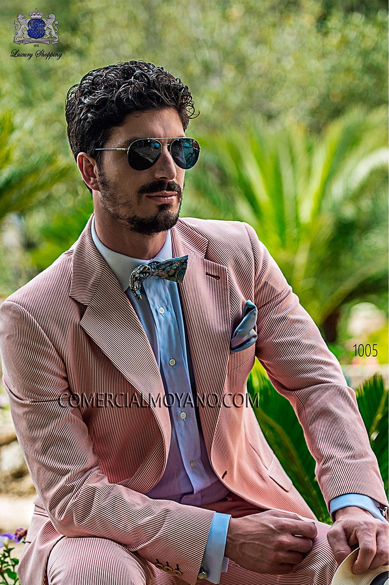 Traje Hipster de novio rojo modelo: 1005 Ottavio Nuccio Gala colección Hipster