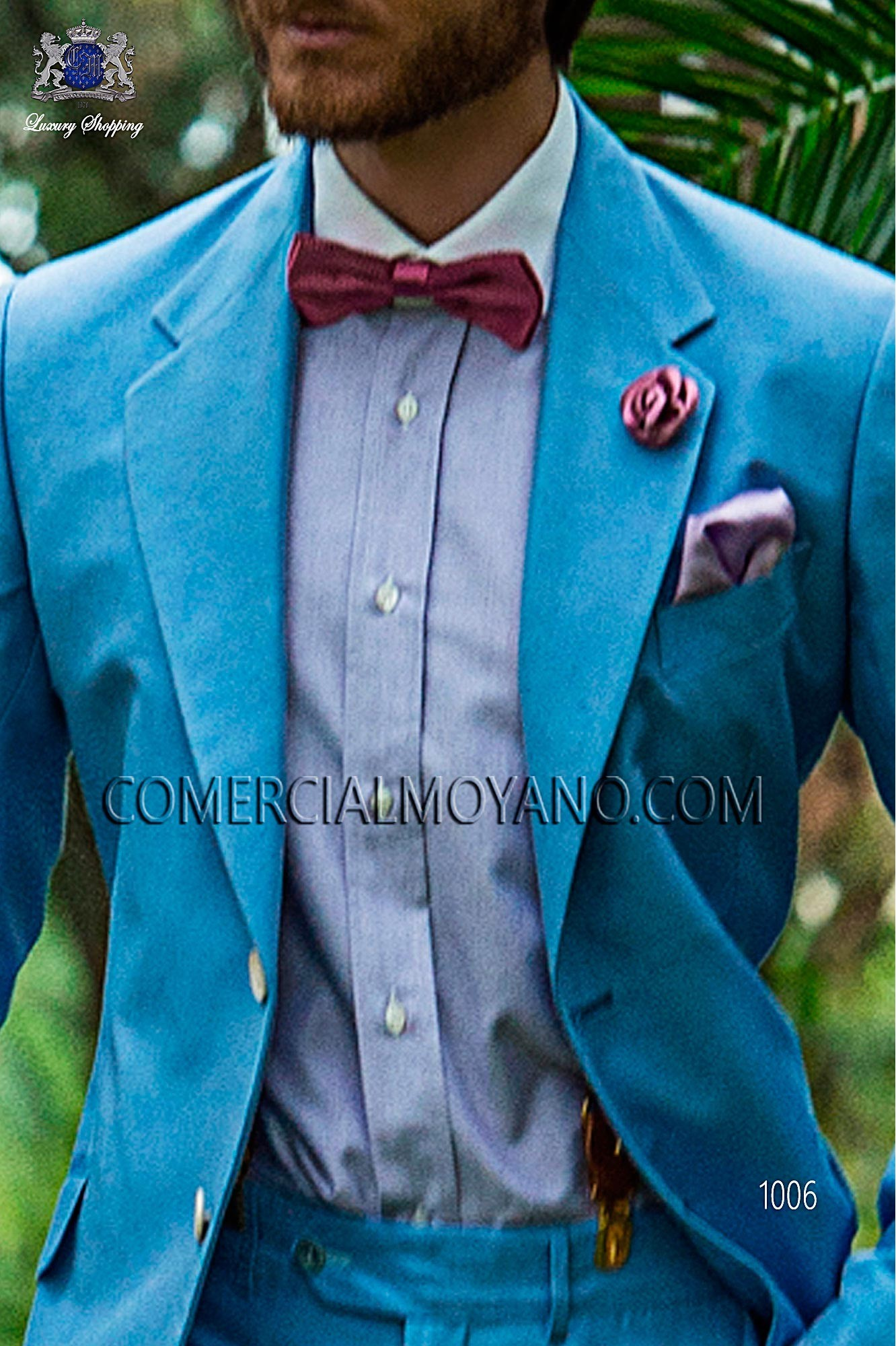 Hipster blue men wedding suit, model: 1006 Ottavio Nuccio Gala ...