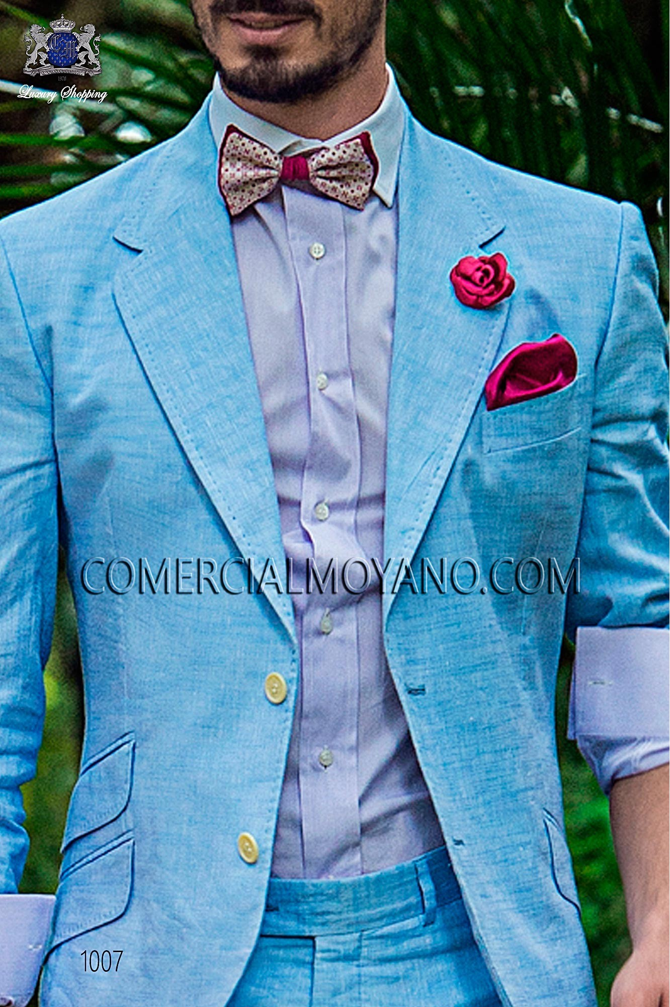 Italian hipster light blue men wedding suit, model: 1007 Ottavio Nuccio Gala Hipster Collection