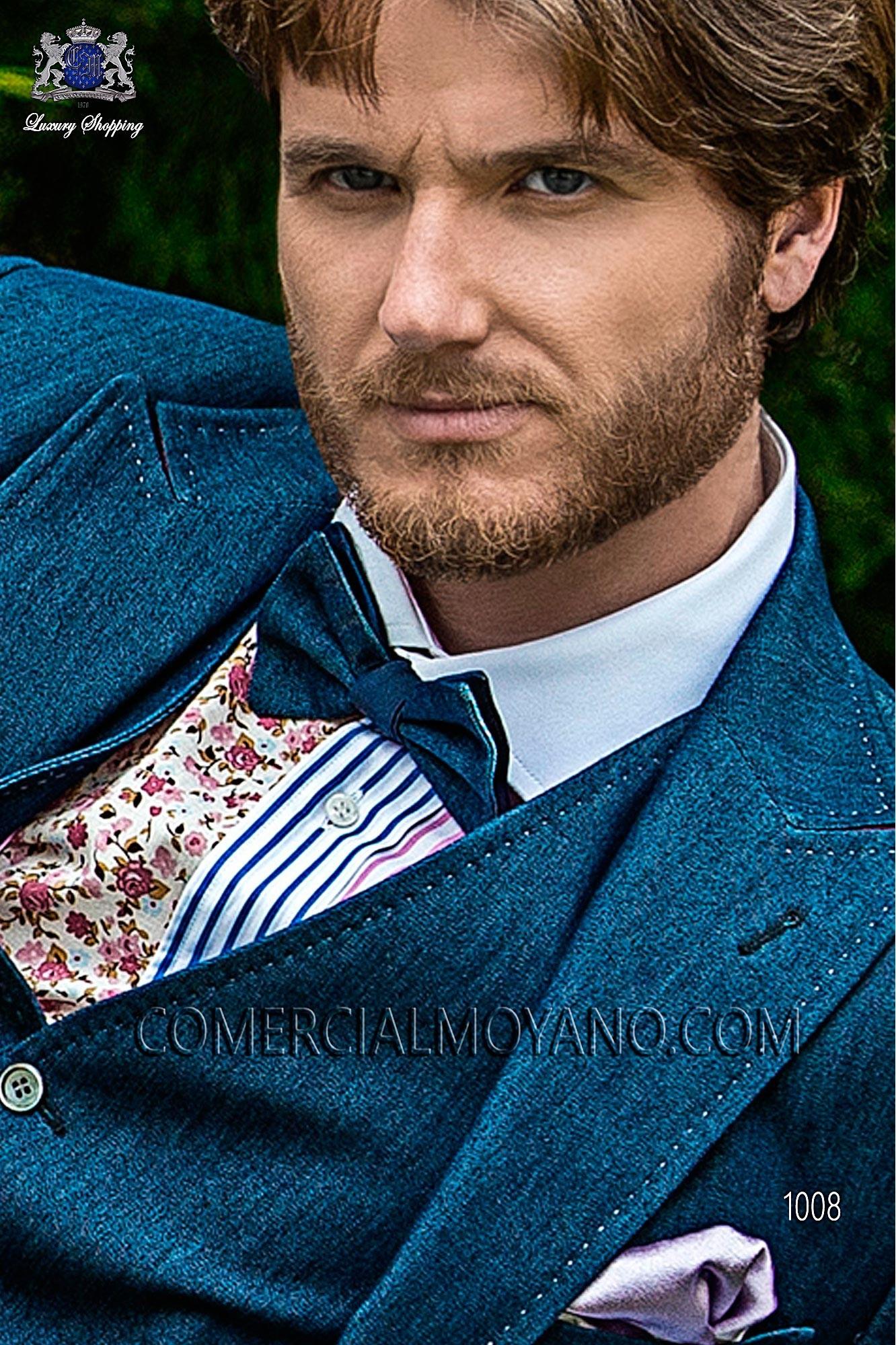 Traje Hipster de novio azul modelo: 1008 Ottavio Nuccio Gala colección Hipster