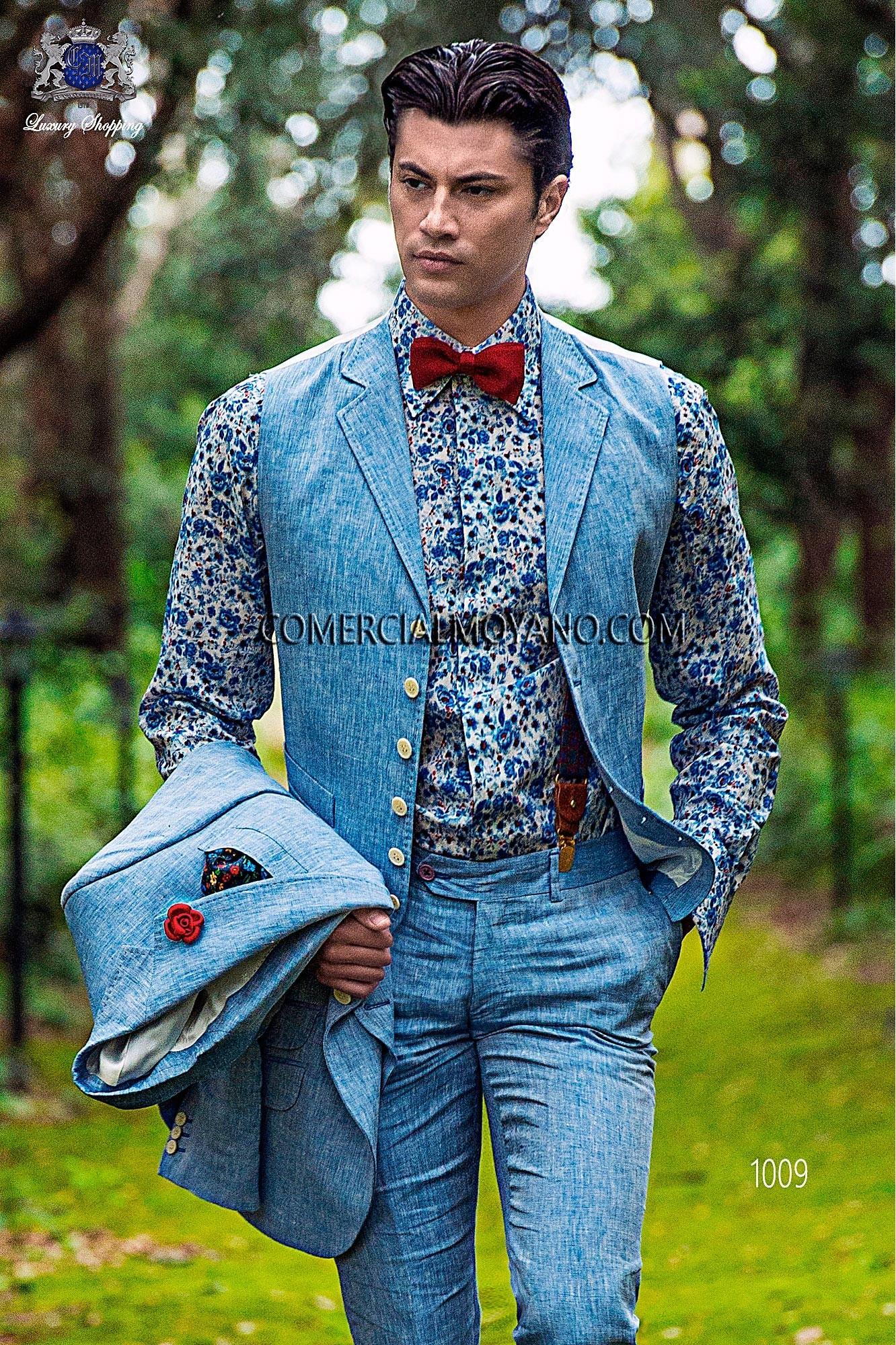 Traje Hipster de novio azul modelo: 1009 Ottavio Nuccio Gala colección Hipster 2017