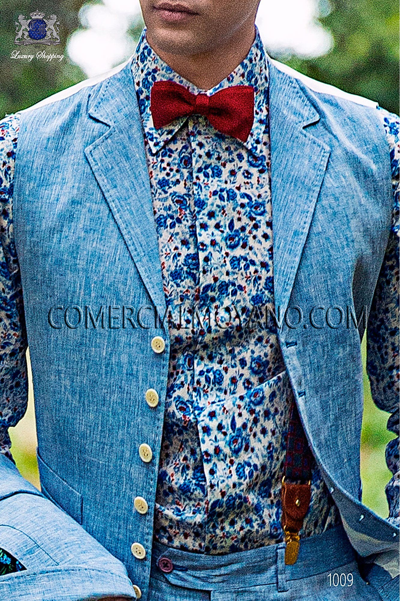 Italian hipster light blue men wedding suit, model: 1009 Ottavio Nuccio Gala Hipster Collection