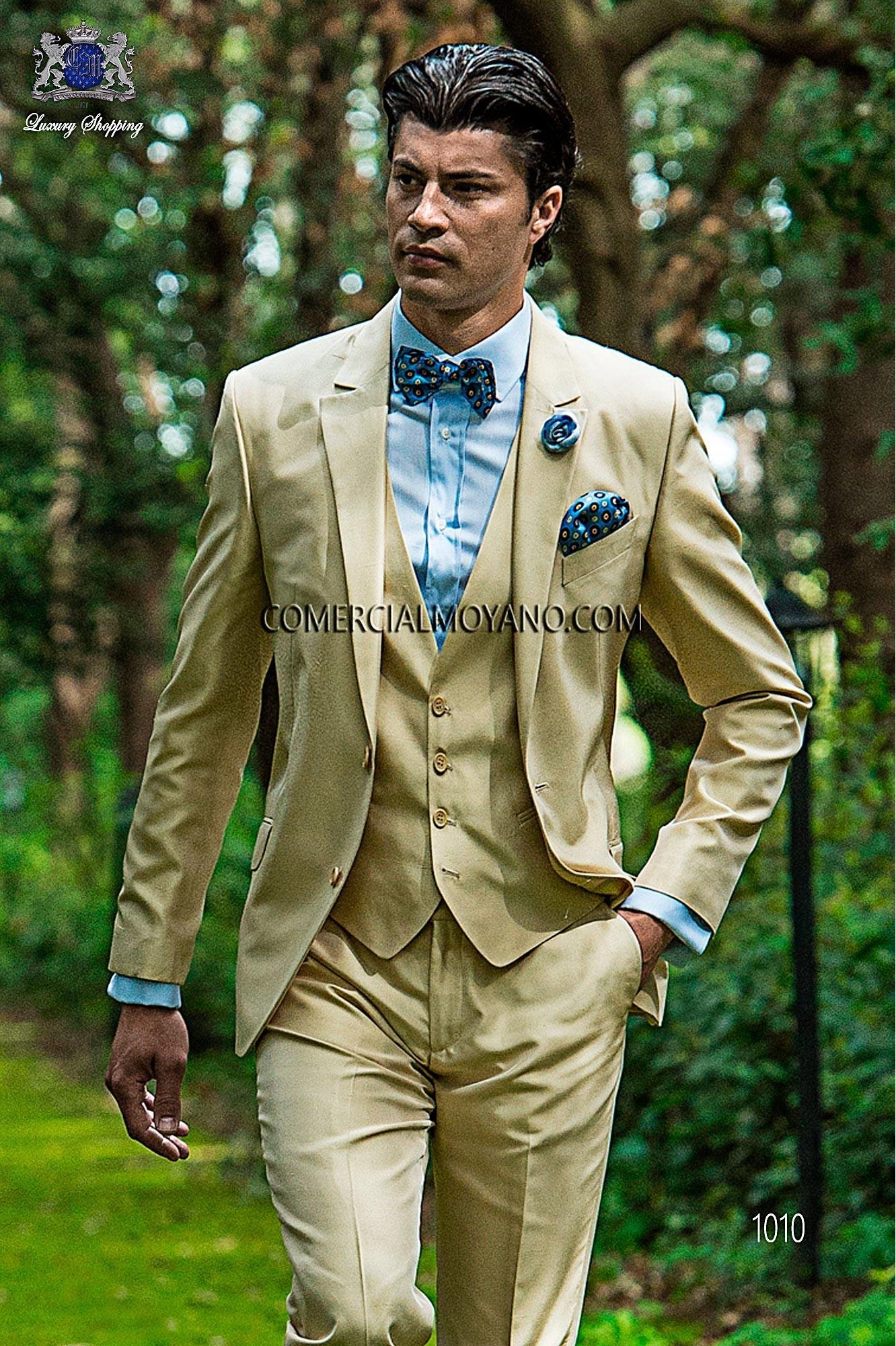 Traje Hipster de novio beige modelo: 1010 Ottavio Nuccio Gala colección Hipster