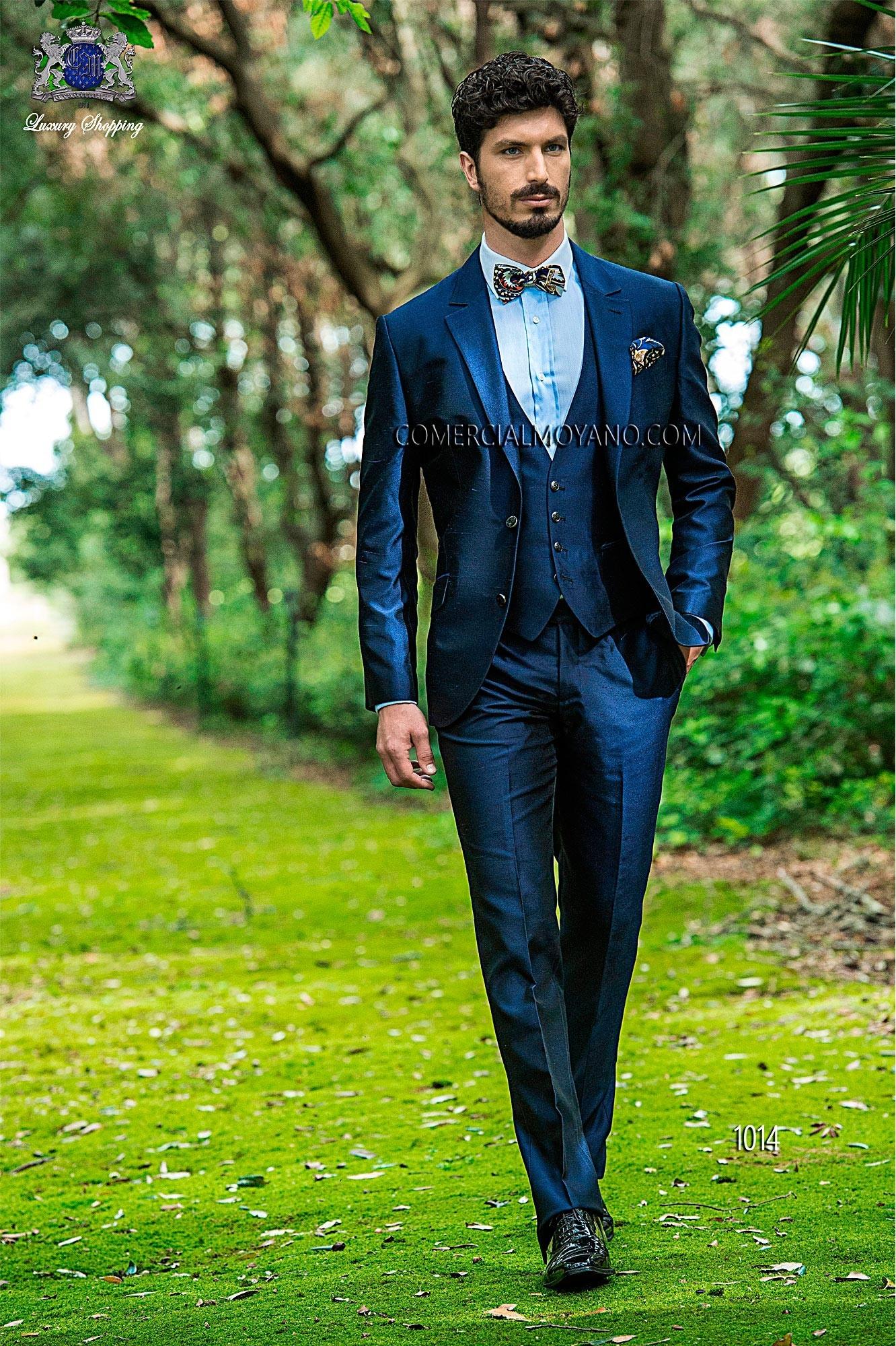 Hipster blue men wedding suit model 1014 Ottavio Nuccio Gala