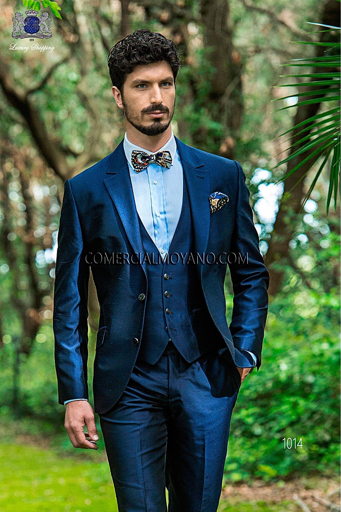 Traje Hipster de novio azul modelo: 1014 Ottavio Nuccio Gala colección Hipster
