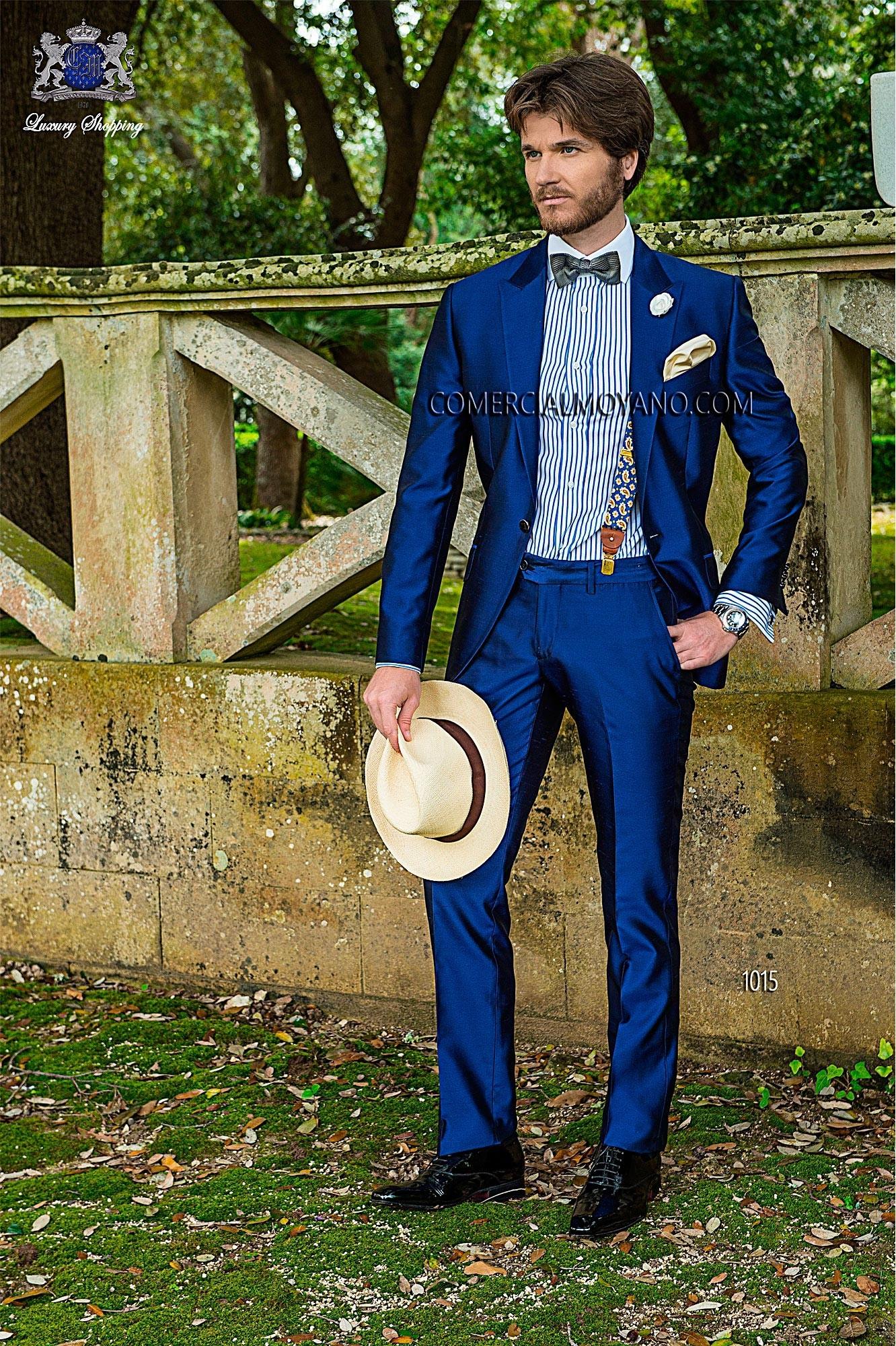Traje de novio Hipster azul modelo: 1015 Ottavio Nuccio Gala colección Hipster 2017