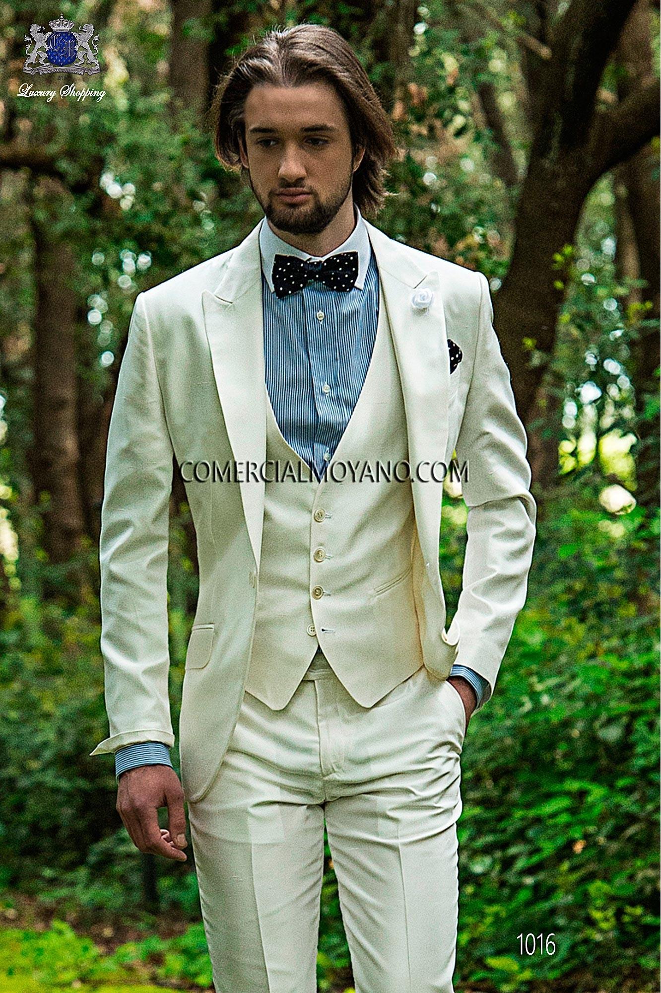 Traje Hipster de novio blanco modelo: 1016 Ottavio Nuccio Gala colección Hipster