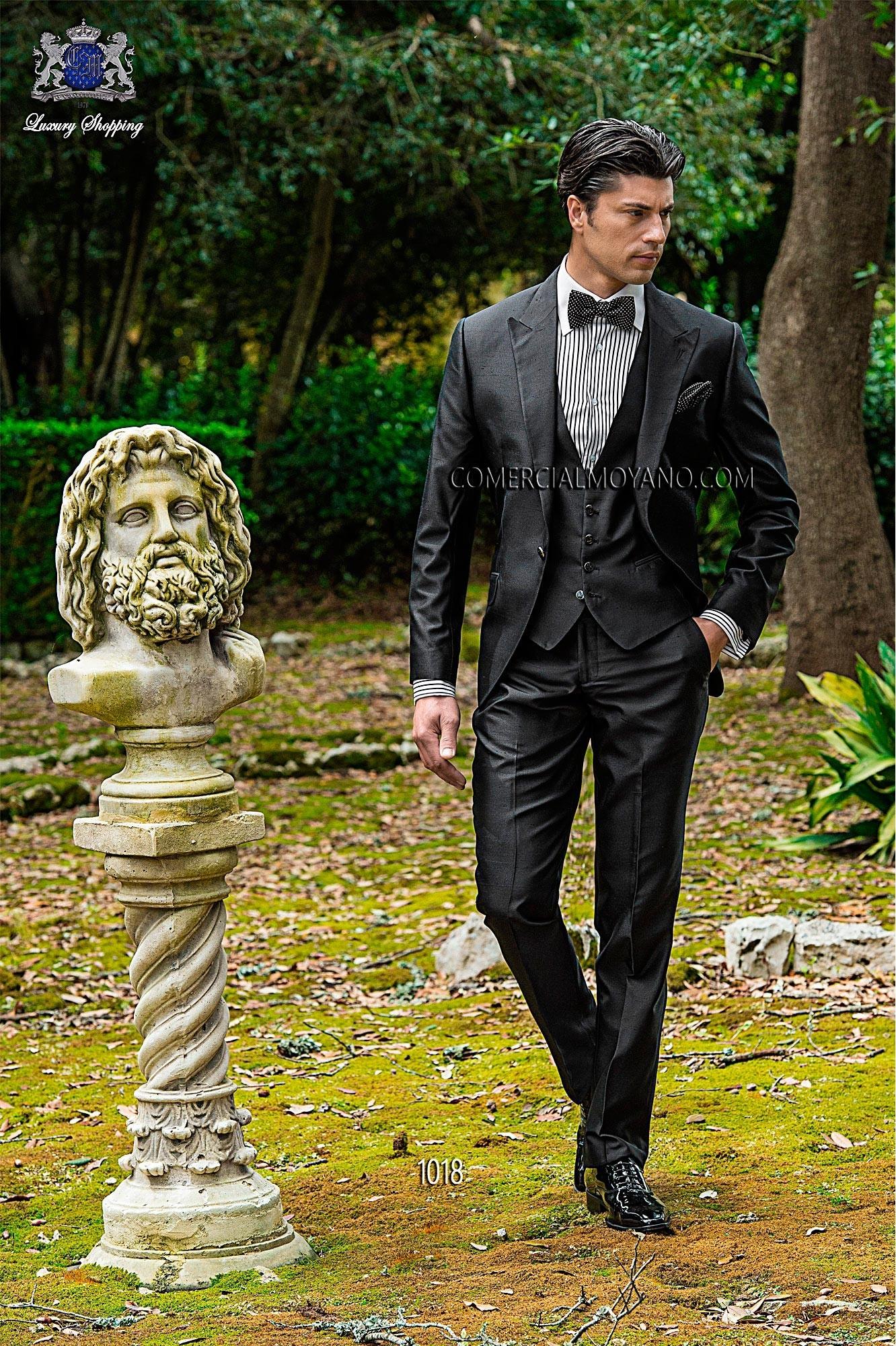 Traje de novio Hipster negro modelo: 1018 Ottavio Nuccio Gala colección Hipster 2017