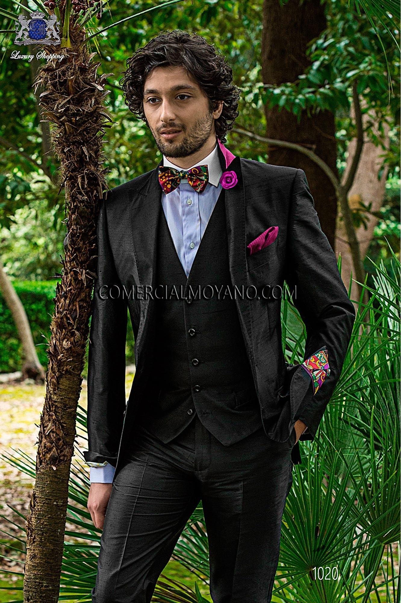 Traje Hipster de novio negro modelo: 1020 Ottavio Nuccio Gala colección Hipster