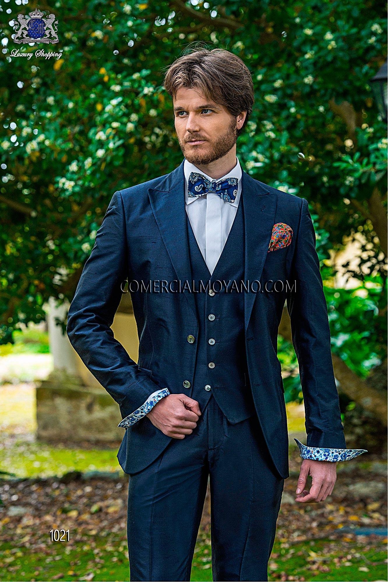 Hipster blue men wedding suit model 1021 Ottavio Nuccio Gala