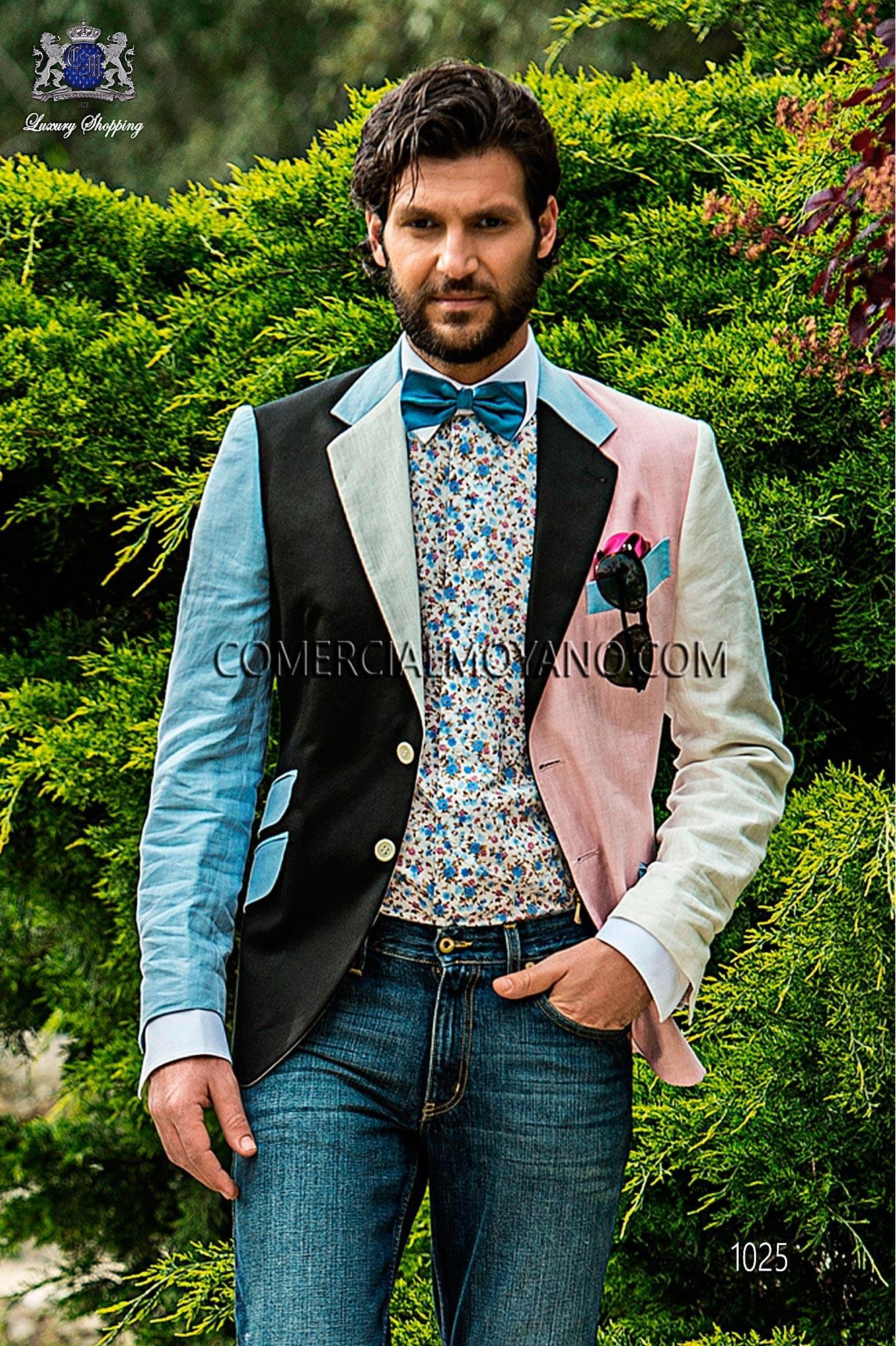 Traje Hipster de novio negro/rosa modelo: 1027 Ottavio Nuccio Gala colección Hipster