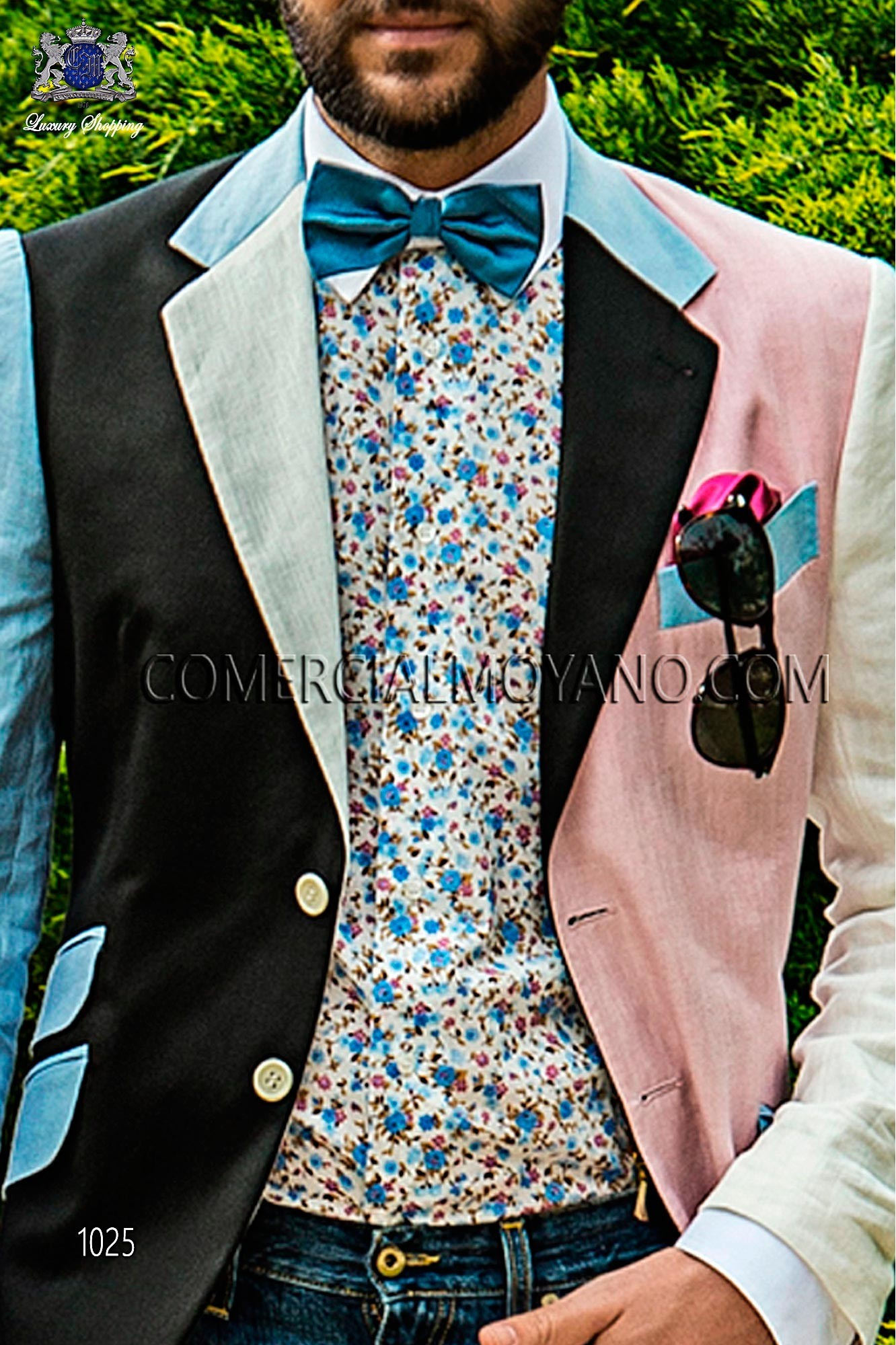 Italian hipster pink/black men wedding suit, model: 1027 Ottavio Nuccio Gala Hipster Collection