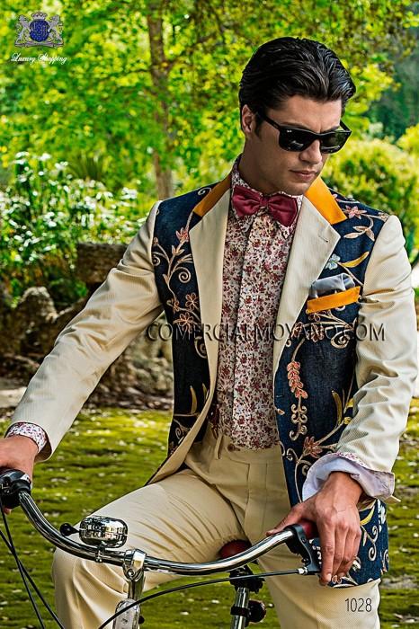 Traje Hipster de novio blanco modelo: 1028 Ottavio Nuccio Gala colección Hipster