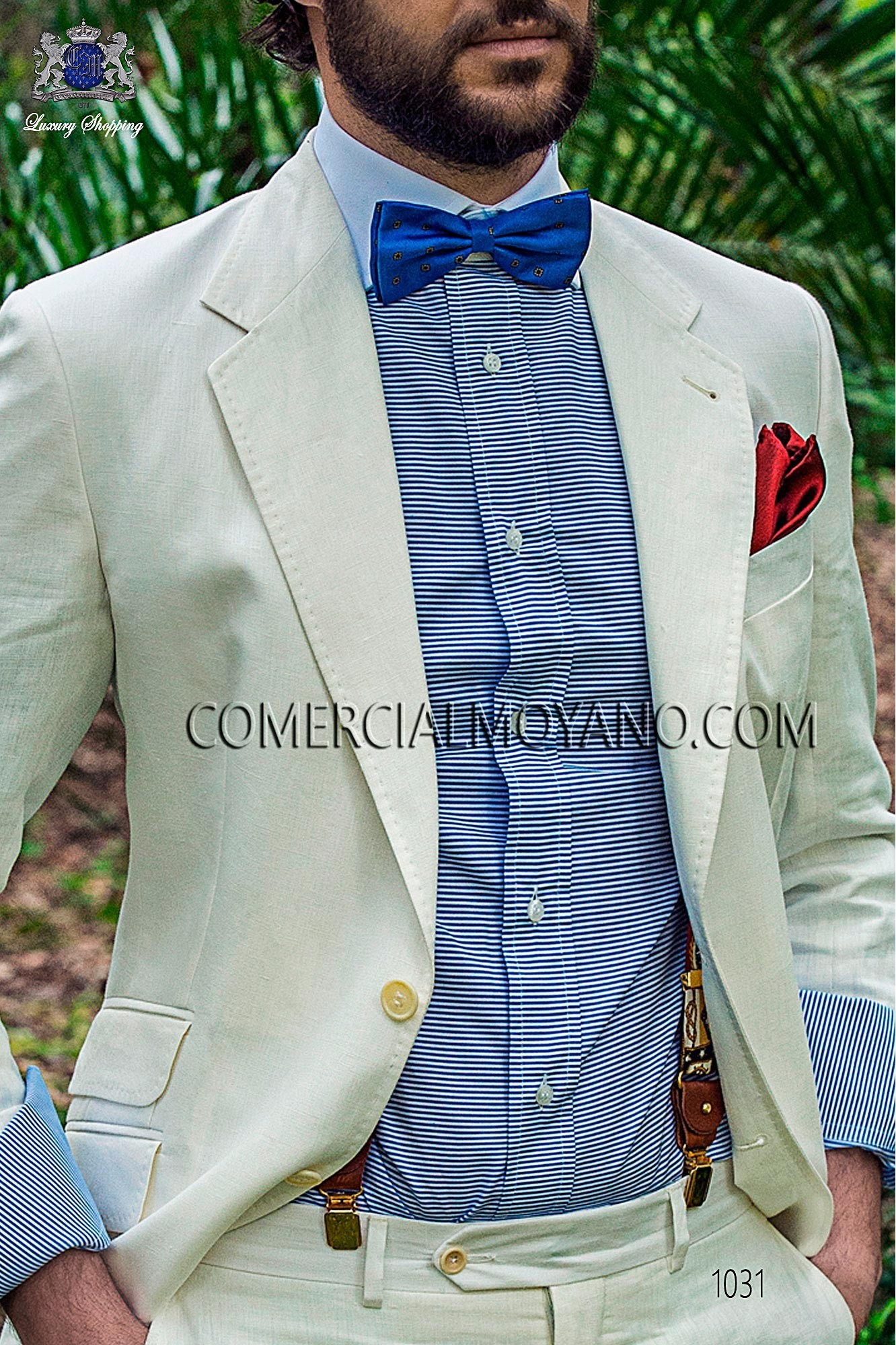Traje Hipster de novio blanco modelo: 1031 Ottavio Nuccio Gala colección Hipster 2017