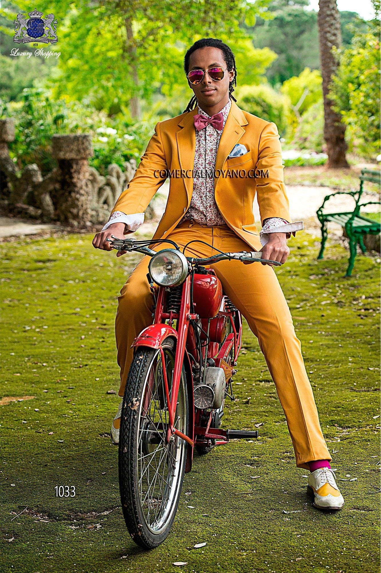 Hipster gold men wedding suit model 1033 Ottavio Nuccio Gala