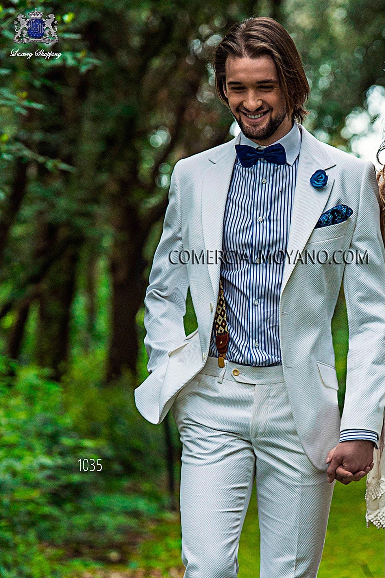 Traje Hipster de novio blanco modelo: 1035 Ottavio Nuccio Gala colección Hipster