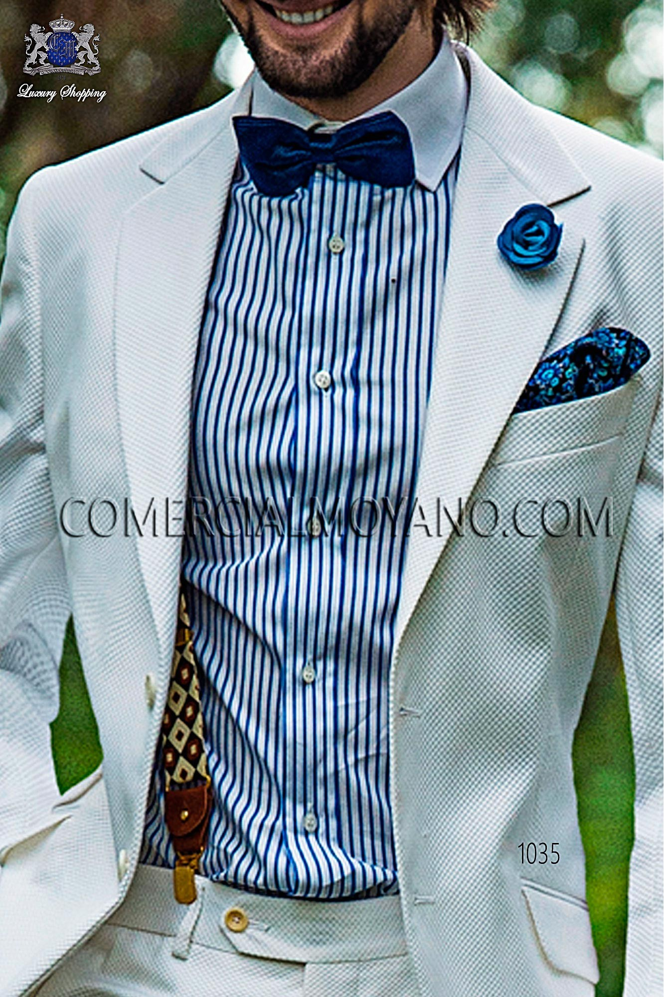 Italian hipster white men wedding suit, model: 1035 Ottavio Nuccio Gala Hipster Collection