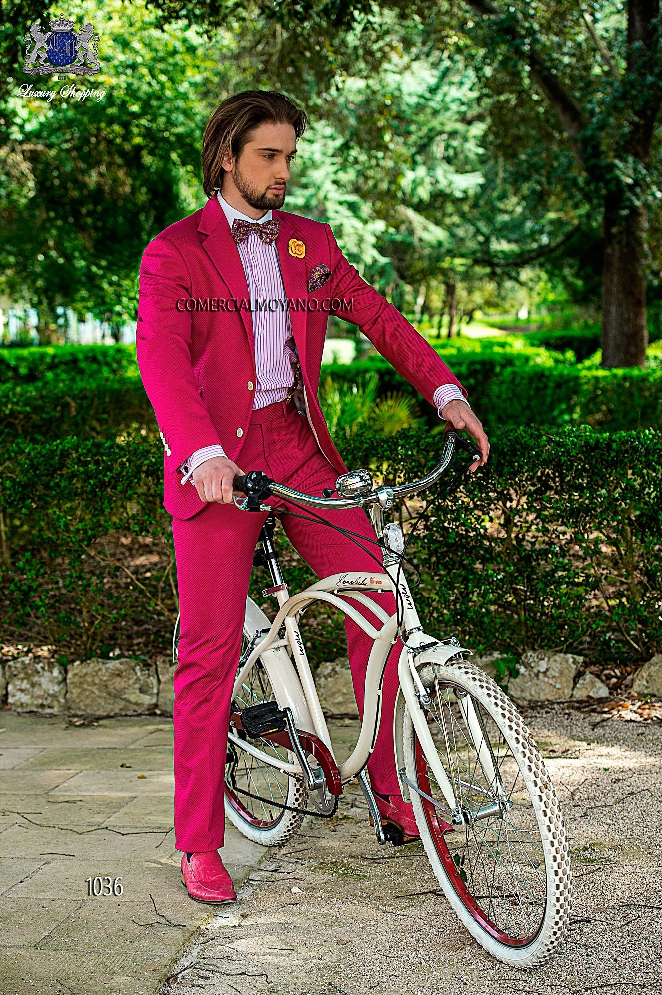 Hipster fuchsia men wedding suit model 1036 Ottavio Nuccio Gala