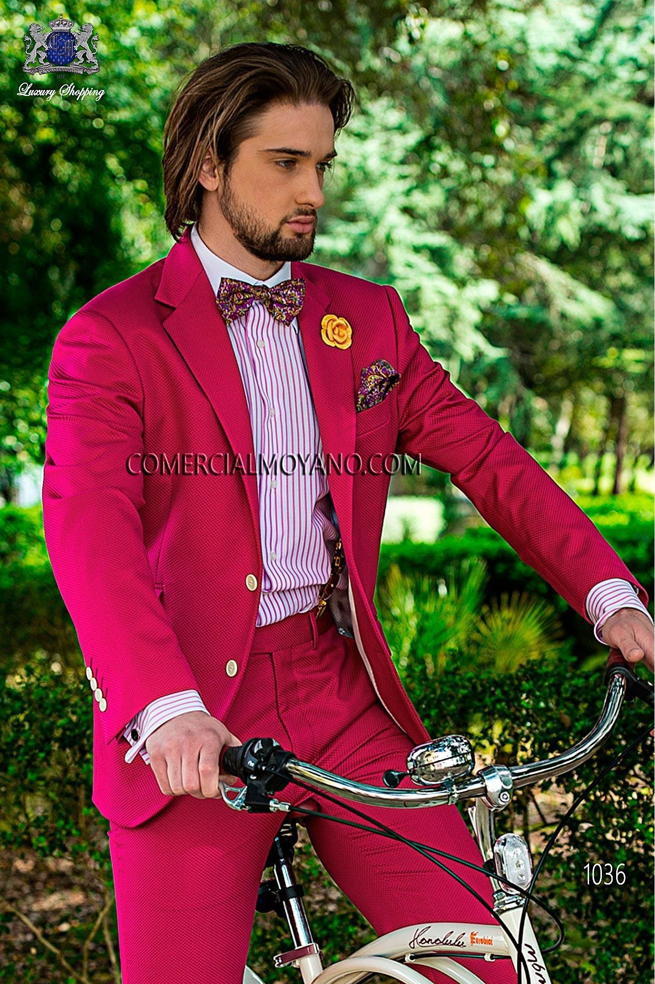 Traje Hipster de novio fucsia modelo: 1036 Ottavio Nuccio Gala colección Hipster