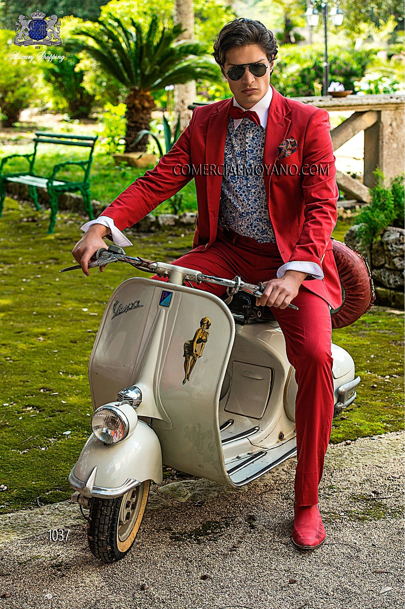 Hipster red men wedding suit model 1037 Ottavio Nuccio Gala