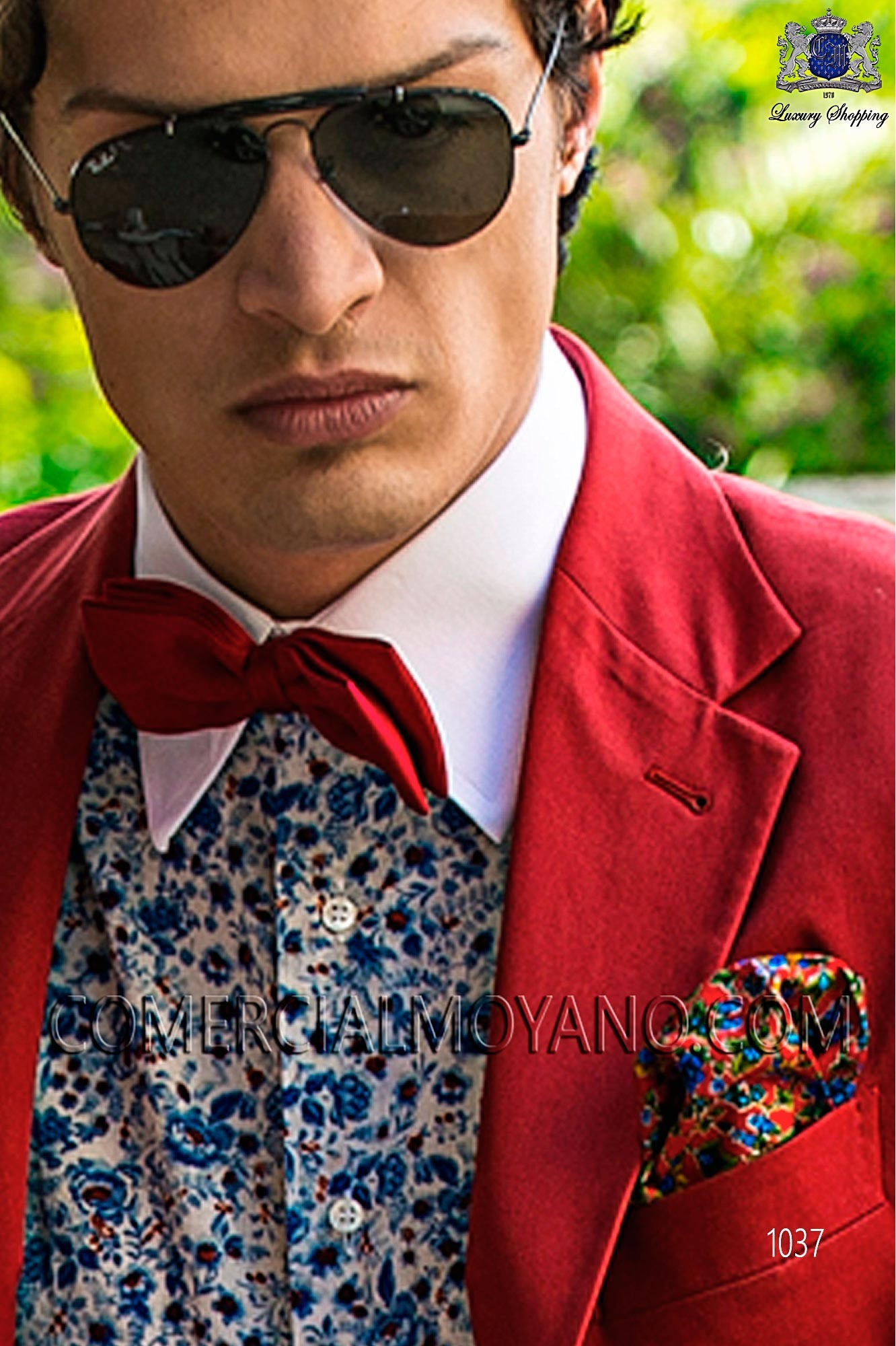 Italian hipster red men wedding suit, model: 1037 Ottavio Nuccio Gala 2017 Hipster Collection