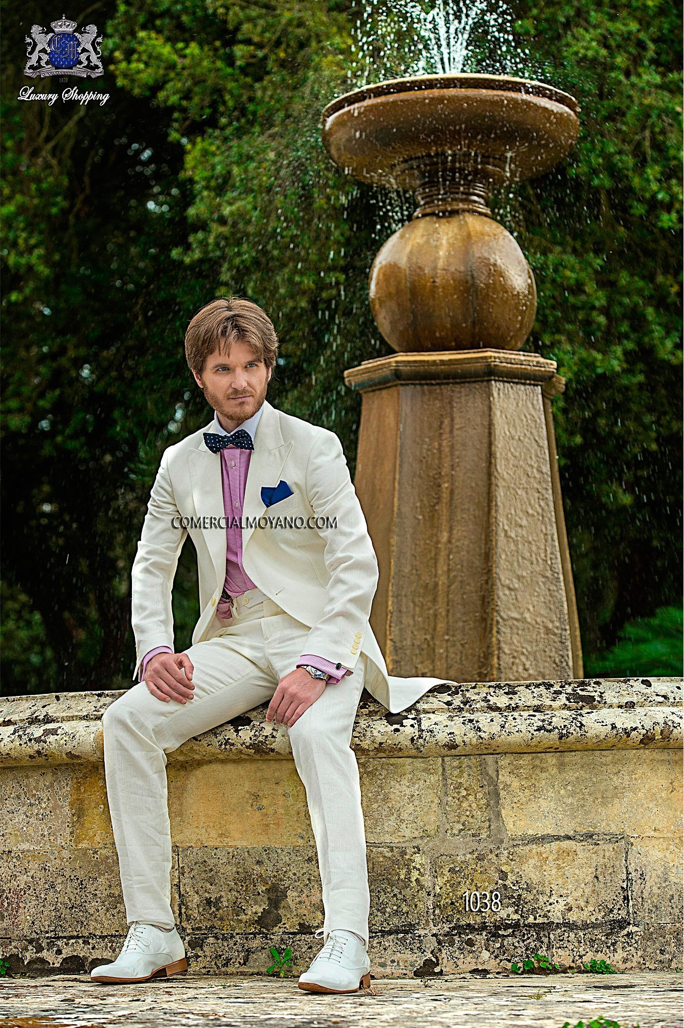 Hipster white men wedding suit model 1038 Ottavio Nuccio Gala