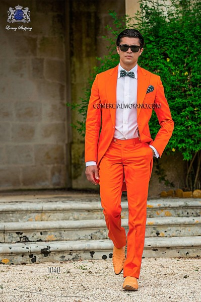 Italian hipster orange men wedding suit style 1040 Ottavio Nuccio Gala