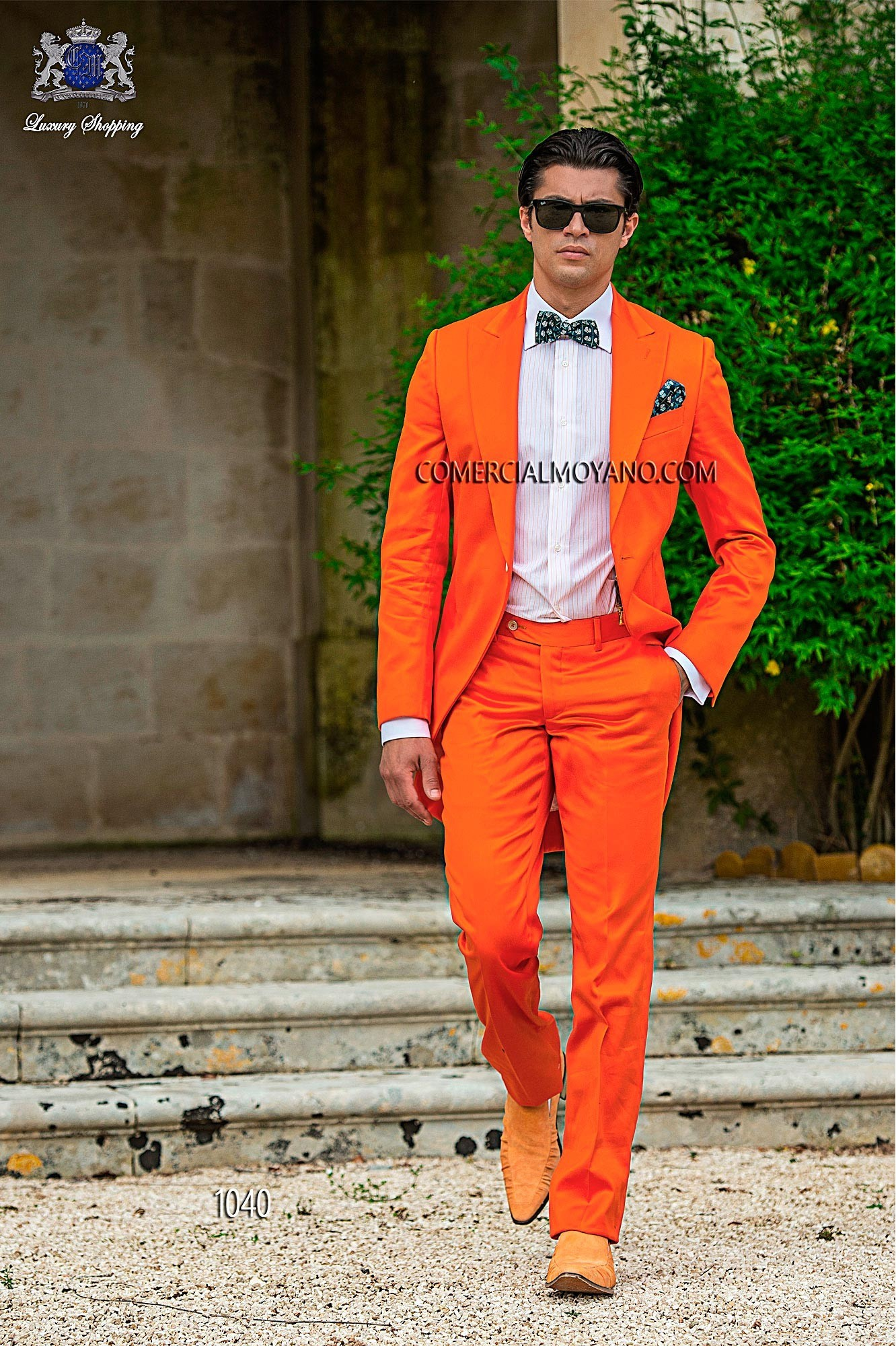 Hipster orange men wedding suit model 1040 Ottavio Nuccio Gala