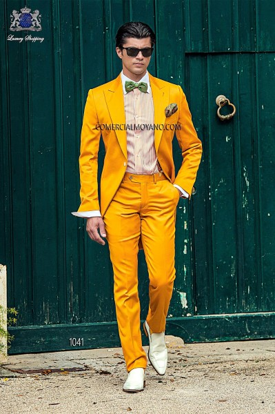 Italian hipster golden men wedding suit style 1041 Ottavio Nuccio Gala