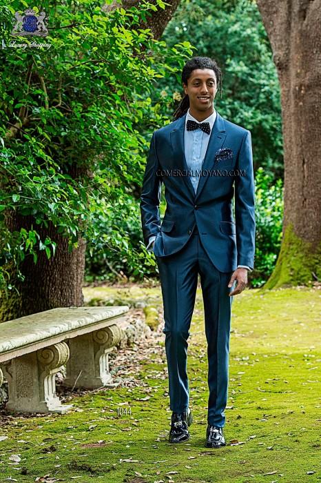 Blue italian fashion men suit