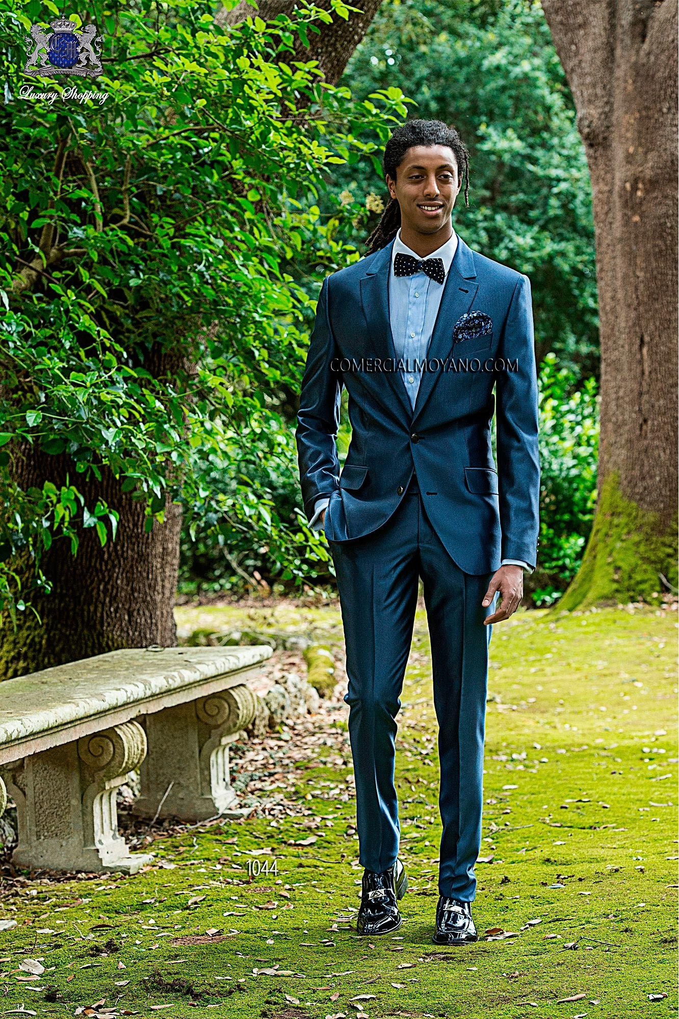 Hipster blue men wedding suit model 1044 Ottavio Nuccio Gala