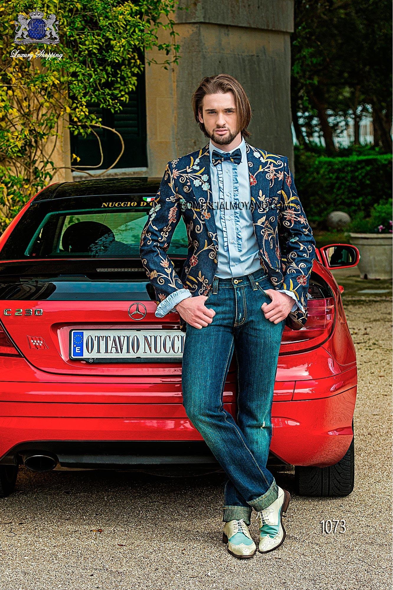 Traje de novio Hipster azul modelo: 1073 Ottavio Nuccio Gala colección Hipster