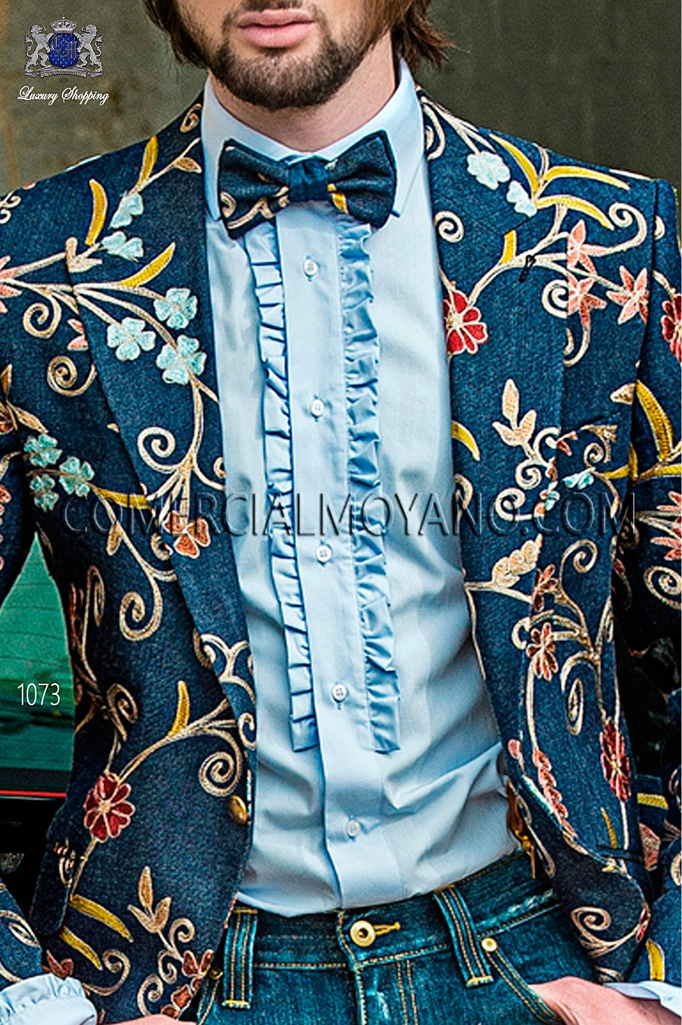 Traje Hipster de novio azul modelo: 1073 Ottavio Nuccio Gala colección Hipster
